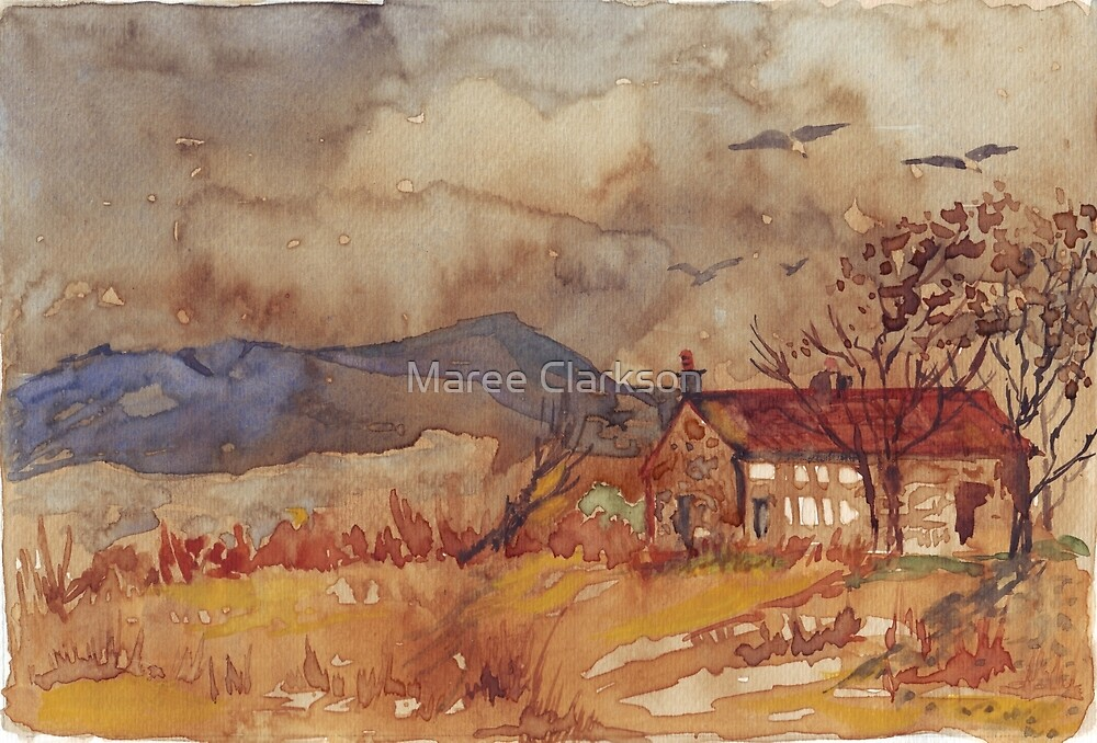 A stone barn in coffee by Maree Clarkson