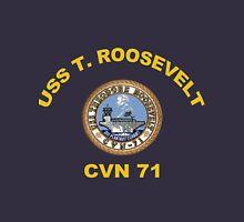 USS Theodore Roosevelt (CVN-71) Crest for Dark Colors Unisex T-Shirt