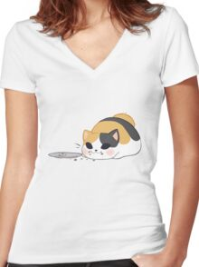 Don't worry, it was delicious! Women's Fitted V-Neck T-Shirt