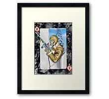 Ace of Spades Framed Print
