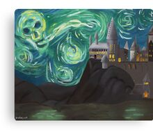 Starry Night at Hogwarts Canvas Print