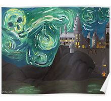 Starry Night at Hogwarts Poster