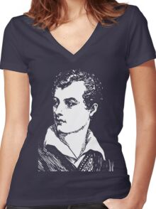 LORD BYRON Women's Fitted V-Neck T-Shirt