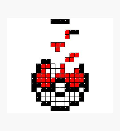 Pokeball Tetris Photographic Print