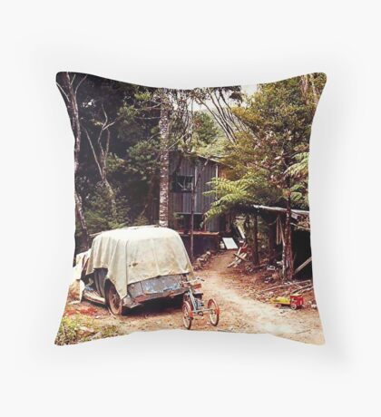 Home is where the heart is !    Great Barrier Island, New Zealand.  Throw Pillow