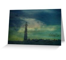 Cape Hatteras Lighthouse at Sunset - Outer Banks, NC Greeting Card