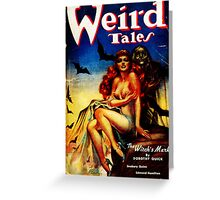 Weird Tales Magazine Greeting Card