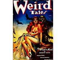 Weird Tales Magazine Photographic Print