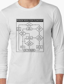Problem Resolution Flowchart Long Sleeve T-Shirt