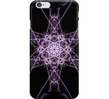 purple star on Black iPhone Case/Skin