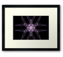 purple star on Black Framed Print