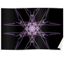purple star on Black Poster