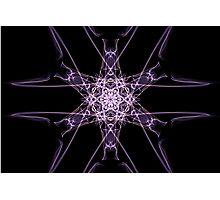 purple star on Black Photographic Print