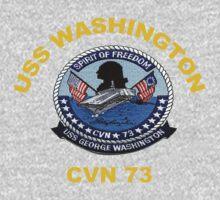 USS George Washington (CVN-73) Crest for Dark Colors One Piece - Long Sleeve