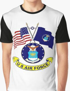 U. S & Air Force Crossed Flags Graphic T-Shirt