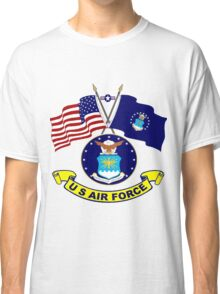 U. S & Air Force Crossed Flags Classic T-Shirt