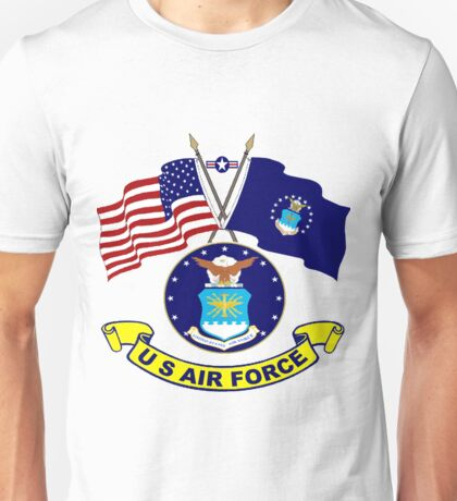 U. S & Air Force Crossed Flags Unisex T-Shirt