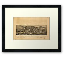 Panoramic Maps Clifton Springs NY Framed Print