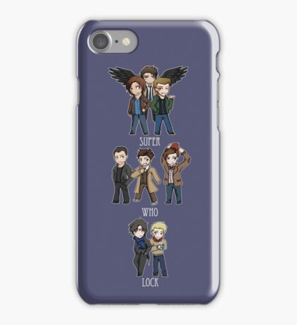 Superwholock Chibis iPhone Case/Skin