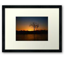 Orange and Blue Sunset In Nova Scotia Framed Print