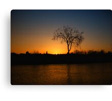Orange and Blue Sunset In Nova Scotia Canvas Print