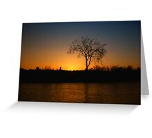 Orange and Blue Sunset In Nova Scotia Greeting Card