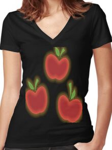 Neon Jack Women's Fitted V-Neck T-Shirt