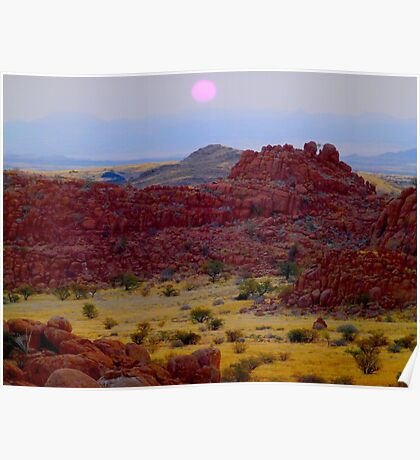Sunset in Damaraland Poster