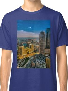 Boston, Bird view. Classic T-Shirt