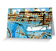 Blue Industry Greeting Card