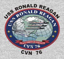 USS Ronald Reagan (CVN-76) Crest One Piece - Long Sleeve