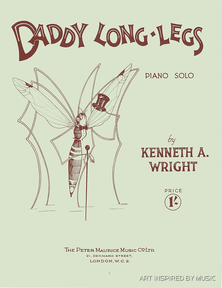 DADDY LONG-LEGS (vintage illustration) by ART INSPIRED BY MUSIC