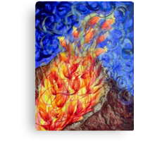 The fire flower Canvas Print