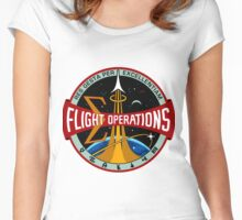 NASA Flight Operations Directorate Logo Women's Fitted Scoop T-Shirt