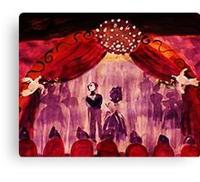 The final bow. watercolor Canvas Print