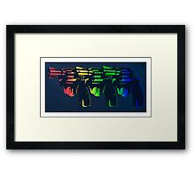 Pop Guns Framed Print