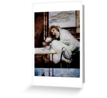 Woman with cranes Greeting Card