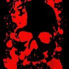 Splatter Skull by skullbrain