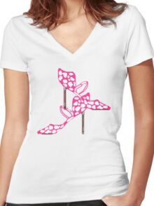 PINK AND SASSY     TEE/BABY GROW Women's Fitted V-Neck T-Shirt