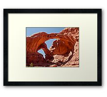 Double Arch, Arches National Park, Utah Framed Print