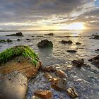 Mossy Rocks at 7 Mile Beach, Tasmania, Australia by PC1134