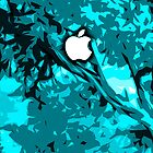 Natures Blues Apple In A Tree iPhone or iPod Case by Kgphotographics