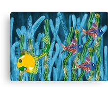 Posidonia oceanica + fishes Canvas Print