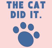 The Cat Did It Kids Tee