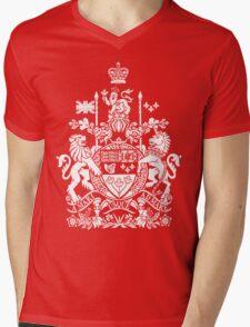 CANADA-COAT OF ARMS Mens V-Neck T-Shirt