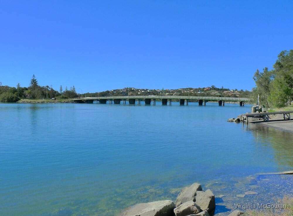 Evans Head Bridge  by Virginia McGowan
