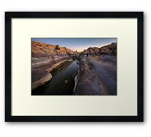Wide and Narrow Framed Print