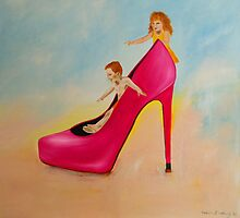 On High Heels Mom by Valeria  Hannig