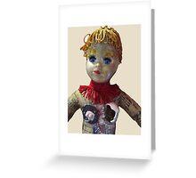 Interiority doll-head Greeting Card