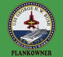 USS George H.W. Bush (CVN-77) Plankowner Crest Baby Tee